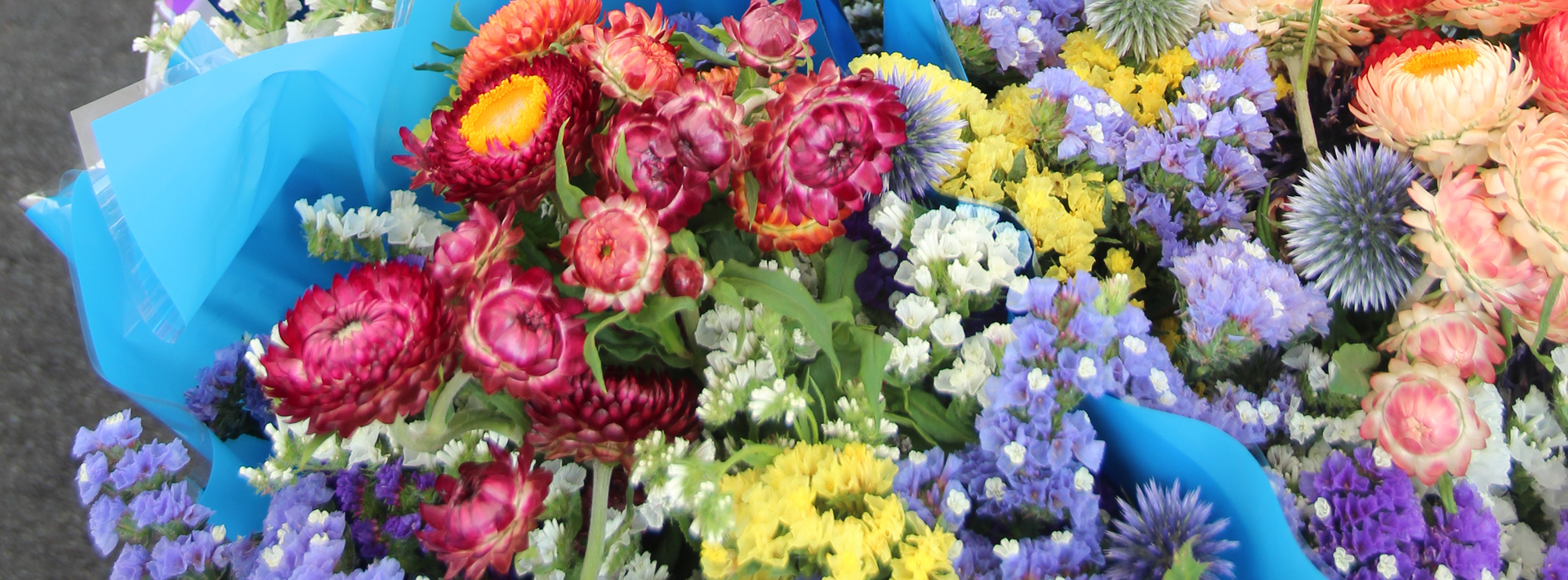 flowers at the farmers market