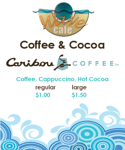 Coffee and cocoa menu