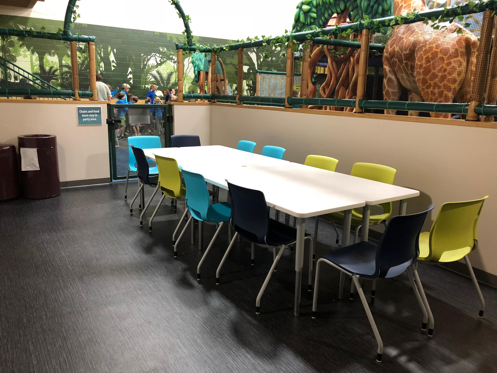 party space inside the tropical adventure indoor playground